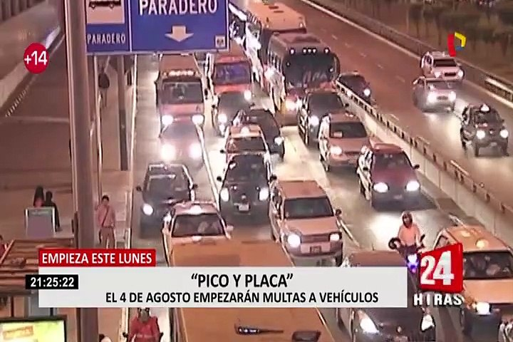 Muñoz explica excepciones para aplicación de la medida 'Pico y Placa'