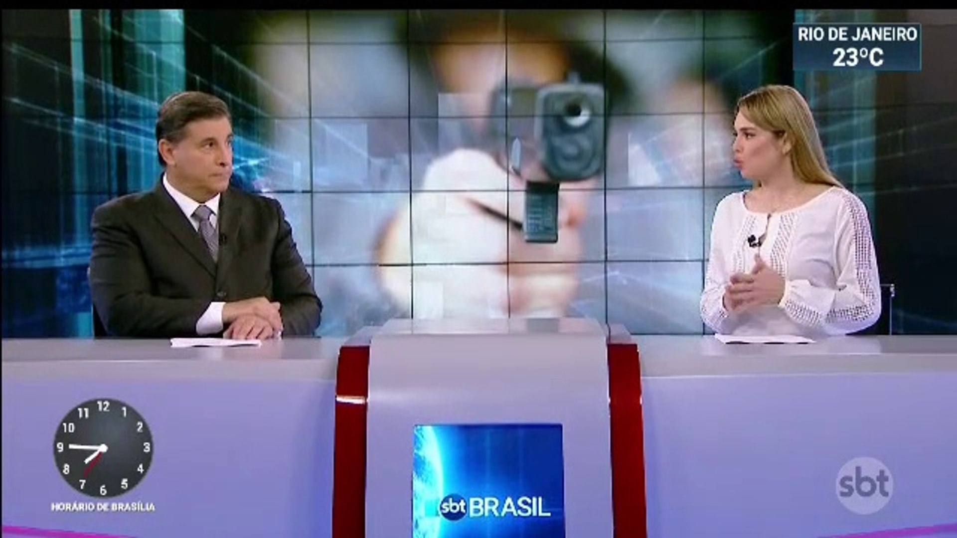 Inicio SBT Brasil com Carlos Nascimento e Rachel Sheherazade (17/06/2019) (19h44) (O mesmo dia da es