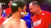 Catriona Gray raises Philippine flag during Pacquiao-Thurman bout