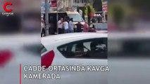Cadde ortasında kavga kamerada