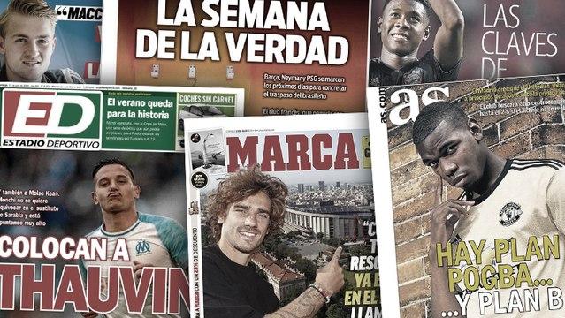 Le plan du Real Madrid pour Paul Pogba, l'émouvante anecdote de Griezmann sur sa signature au Barça
