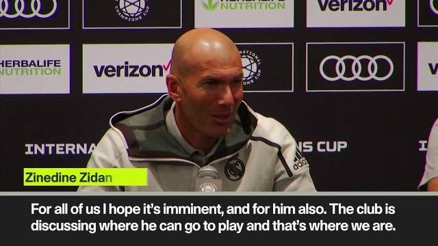 (Subtitled) Zidane confirms Bale's departure from Real Madrid