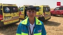 El SUMMA-112 confirma la muerte de una mujer en un campo de Getafe