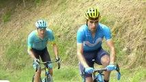 Tour de France 2019 - Landa et Fuglsang à l'avant dans le mur de Péguère