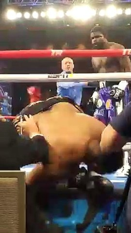 Boxing - This angle of Cassius Chaney knocking Joel Caudle