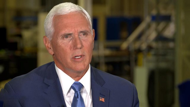 """Pence says Trump """"might make an effort"""" to stop more """"send her back"""" chants"""