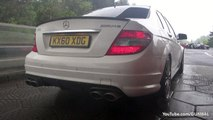Mercedes-Benz C63 AMG   C63 AMG Coupe - LOUD Revs   Full Throttle Accelerations-