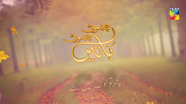 Kuch Tou Log Kahengay Epi 3 Choti Choti Batain HUM TV Drama 21 July 2019