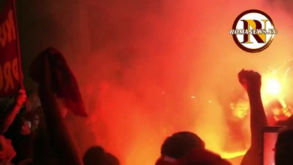 Roma, la festa dei tifosi in Via degli Uffici del Vicario (22/07/2019)