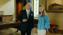 La Princesse Elisabeth visite le plateau de tournage du discours royal