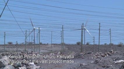 [WATCH] Kenya launches Africa's biggest wind farm