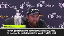 (Subtitled) 'McIlroy is one of the best' - Lowry praises standard of Irish golf