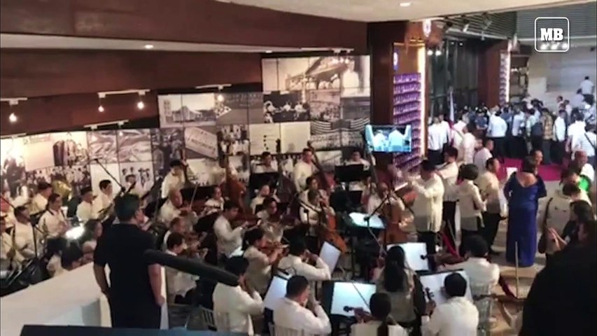 Philippine Philharmonic Orchestra rehearsing