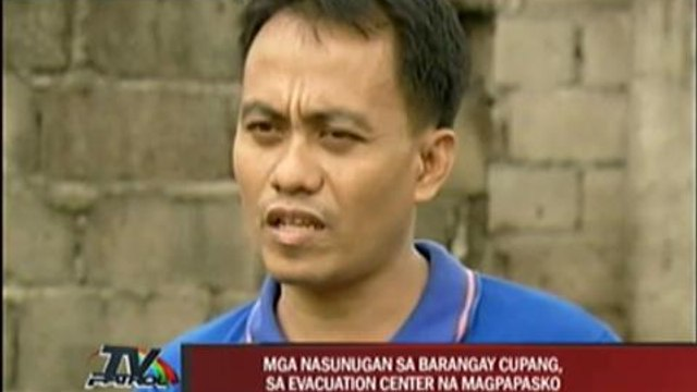 Muntinlupa fire victims to spend X'mas in evacuation centers