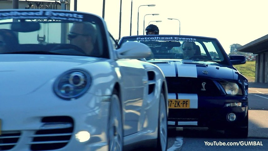 Exotic cars Accelerating- Nissan R35 GT-R, MP4-12C Spider, BMW F10 M5, 911 Turbo, Shelby GT500