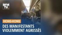 Des manifestants violemment agressés en marge des mobilisations à Hong Kong