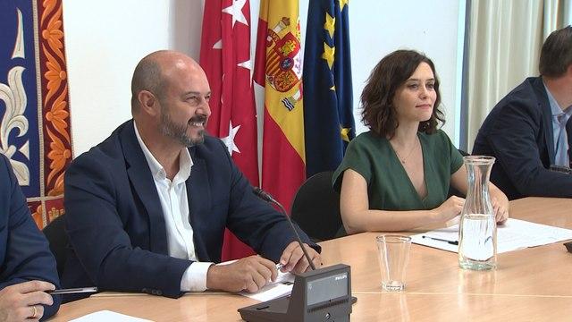 Ayuso se reúne con el Gobierno de Madrid en funciones