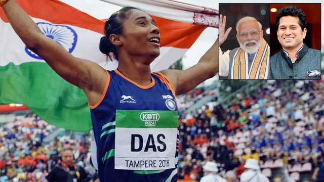 PM Modi, Sachin Tendulkar Congratulate Hima Das For Dream Run In Europe || Oneindia Telugu