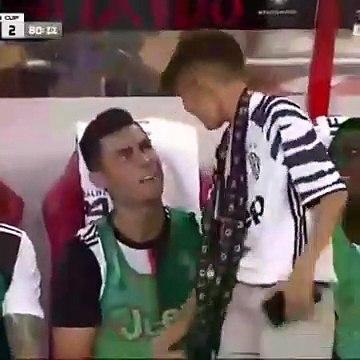 Vídeo: Menino  cumprimentou CR7 e acabou no banco da Juventus