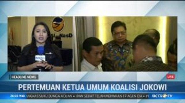 Pertemuan Empat Ketum Parpol Koalisi Jokowi-KH Ma'ruf Bahas Soliditas