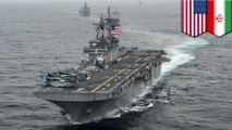 U.S. Navy vessel downs Iranian drone in Strait of Hormuz