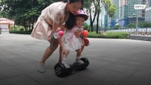 Toddler riding hoverboard becomes Internet sensation in China