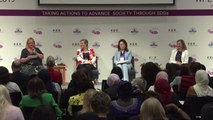Female leaders discuss women's health care at the Women Political Leaders Summit 2019
