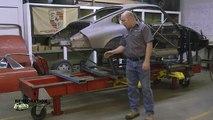 Porsche 911 repair at restoration design with the help of a Celette frame machine
