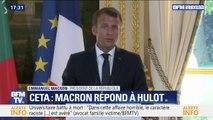 """Emmanuel Macron sur le CETA: """"Si nous décidons de tout refuser par principe, nous nous isolons nous-mêmes"""""""