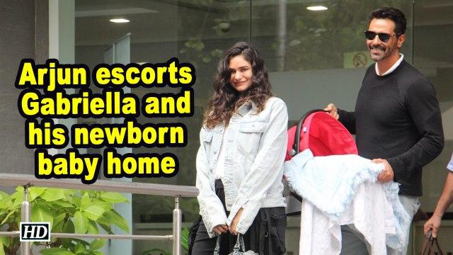 Arjun escorts Gabriella and his newborn baby home