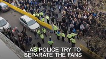 Fans clash after Chelsea and Tottenham match