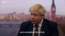 Boris Johnson -  Russia has been investigating nerve agents for assassination