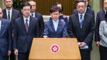 Hong Kong leader Carrie Lam 'condemns' all violence as it 'is not a solution to any problem'