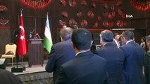 Cumhurbaşkanı Yardımcısı Fuat Oktay, Özbekistan Ankara Büyükelçisi Alişer Agzamhocayev tarafından Özbekistan Başbakan Yardımcısı Elyor Ganiyev'in katılımıyla, onuruna düzenlenen yemekte konuştu