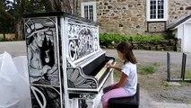 Le piano public de la Maison LePailleur à Châteauguay