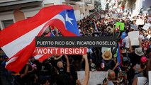Puerto Rico Gov. Ricardo Rosello Won't Resign