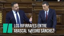 Los rifirrafes entre Santiago Abascal y Pedro Sánchez en el debate de investidura