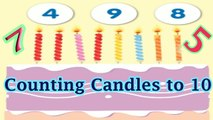 Birthday Candle Counting: Numbers Counting to 10, Preschool and Kindergarten Activities