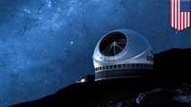 Activists protest against Hawaii's plan to build a giant telescope