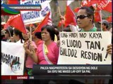 PAL workers march to Mendiola to protest layoff
