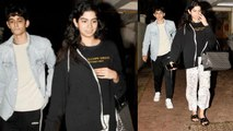Khushi Kapoor spotted with mystery boy ouside Arjun Kapoor's house; Watch video | FilmiBeat