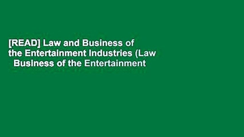 [READ] Law and Business of the Entertainment Industries (Law   Business of the Entertainment