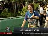 Binay, Roxas meet at mass for Cory