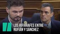 Los rifirrafes entre Rufián y Sánchez en el debate de investidura