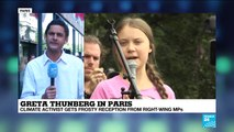 'Overwhelming respect' but heavy criticism for Greta Thunberg in Paris