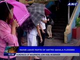 Rains leave parts of Metro Manila flooded