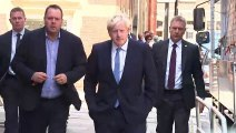 Boris Johnson returns to HQ after Conservative win