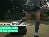 Entraînement professionnel: exercices axés sur les jambes