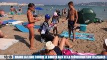 Quand la Ligue contre le cancer fait de la prévention sur les plages marseillaises