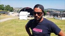 """Arnaud Gibert, dit """"Gibus"""", responsable de l'implantation et de la logistique, parle de son expérience au festival de la Paille, à Métabief"""